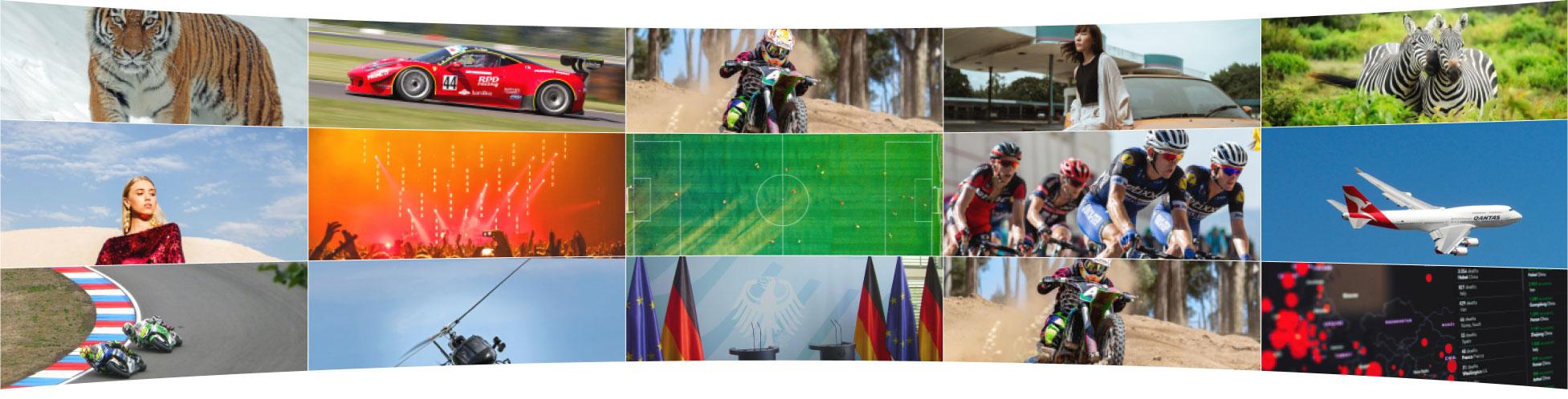 ライブニュースとダイナミックなスポーツ中継を考慮した設計