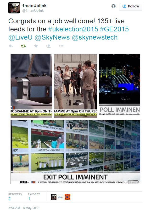 Sky News UK Election Coverage with LiveU - Image 3