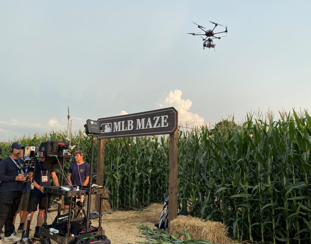LiveU and T-Mobile power the dynamic HDR 5G aerial coverage of the historic MLB at Field of Dreams game